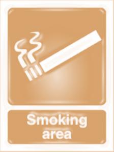 area para fumantes