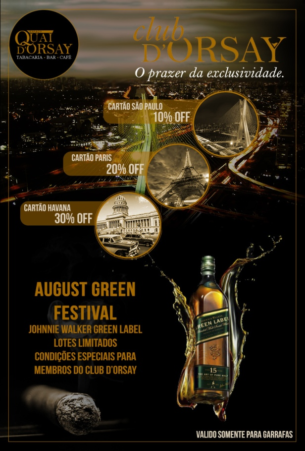 ClubDOrsay e AUGUST GREEN - Agosto2017