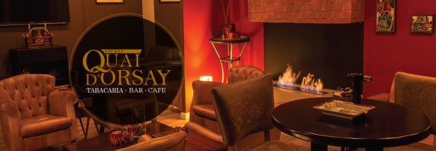 Tabacaria Quai D'Orsay - foto do nosso lounge com lareira
