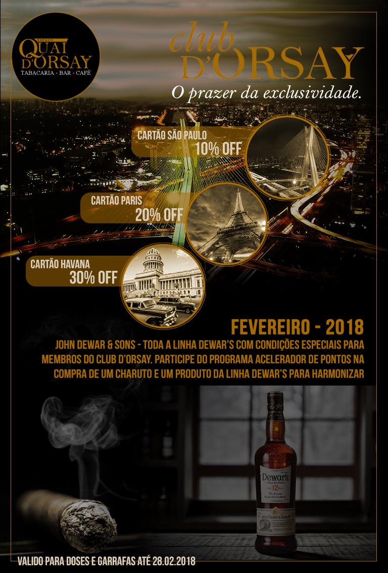ClubDOrsay e DEWAR'S 12 anos - Fevereiro2018