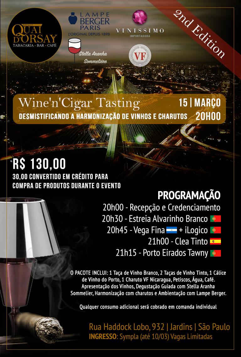 Convite Vinhos e Charutos Stella Aranha 2nd_Edt