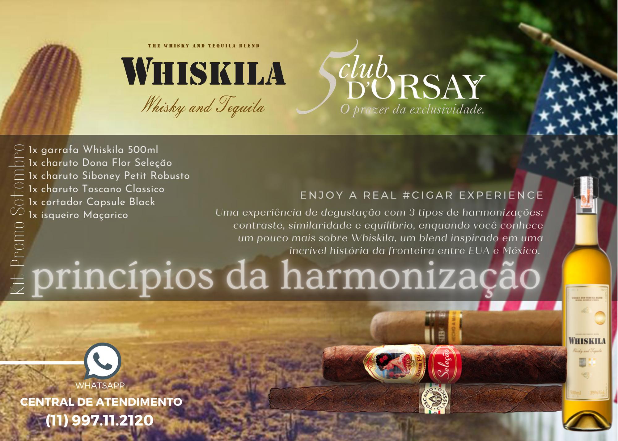 Whiskila Kit Harmonização Charutos Setembro 2020